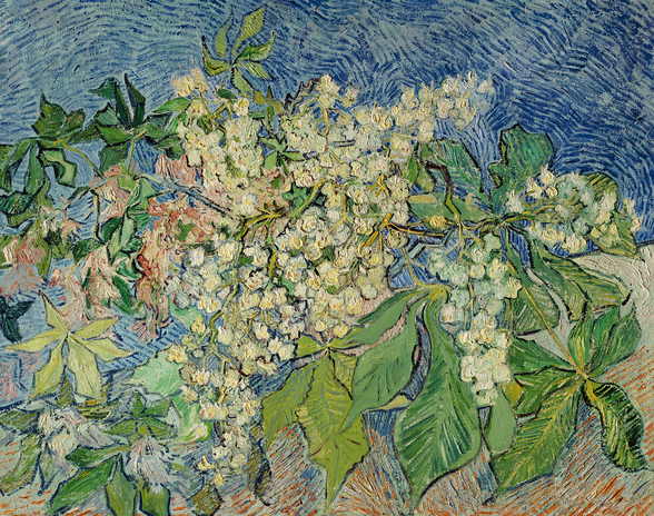 Blossoming Chestnut Branches, 1890 (oil on canvas) wall mural