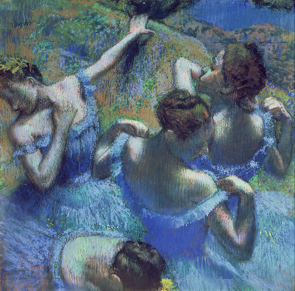 Blue Dancers, c.1899 (pastel) wallpaper mural