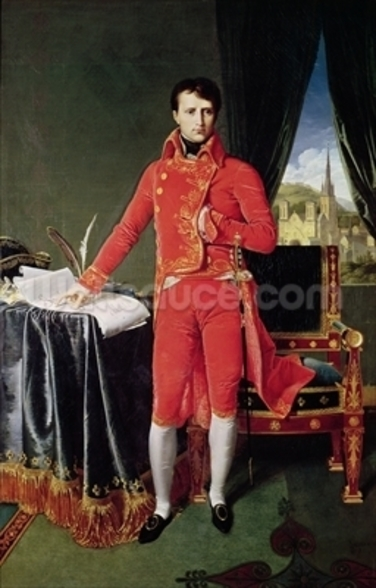 Bonaparte as First Consul, 1804 (oil on canvas) wall mural