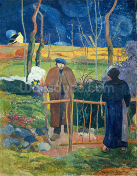 Bonjour, Monsieur Gauguin, 1889 (oil on canvas) wall mural