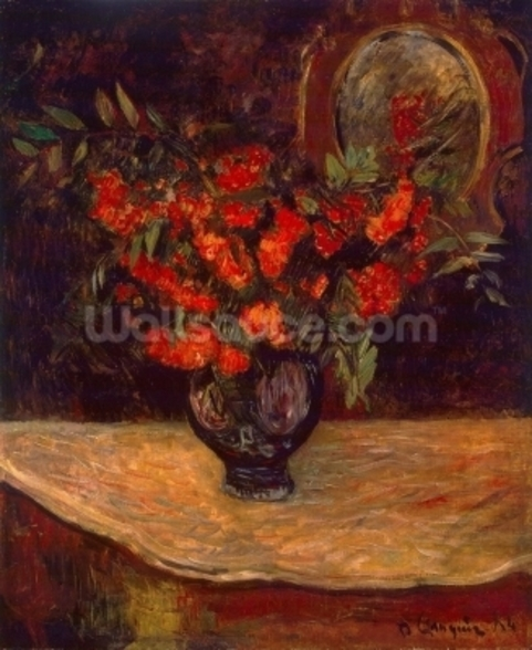 Bouquet, 1884 (oil on canvas) wall mural