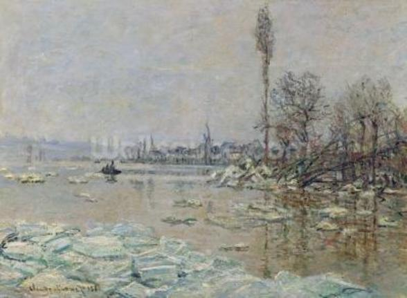 Breakup of Ice, 1880 (oil on canvas) wall mural