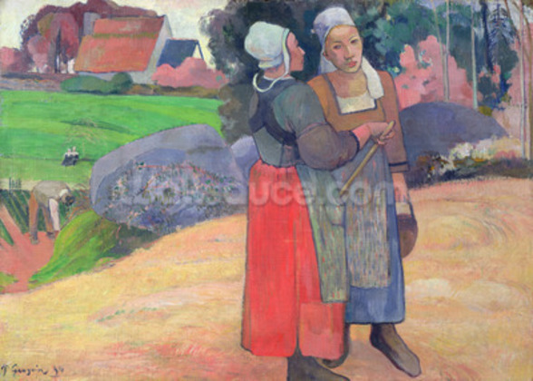 Breton Peasants, 1894 (oil on canvas) wallpaper mural