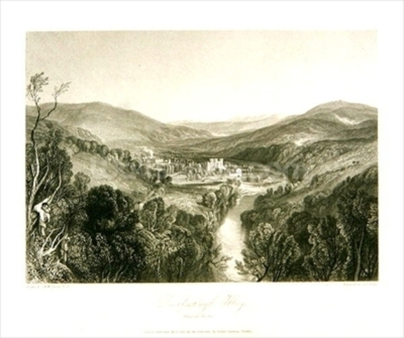 Buckfastleigh Abbey, Devon, c.1826 (litho) mural wallpaper