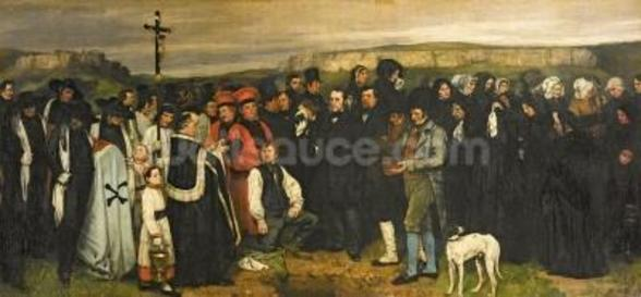 Burial at Ornans, 1849-50 (oil on canvas) wall mural