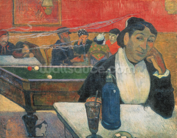 Cafe at Arles, 1888 (oil on canvas) wall mural
