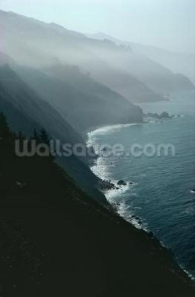 California coastline (photo) wall mural