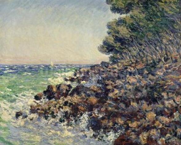 Cap Martin, 1884 (oil on canvas) mural wallpaper