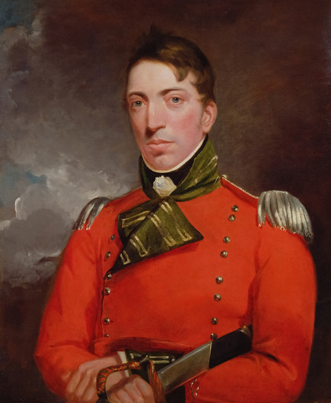 Captain Richard Gubbins, c.1804-05 (oil on canvas) wall mural