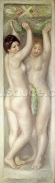 Caryatids (oil on canvas) wallpaper mural