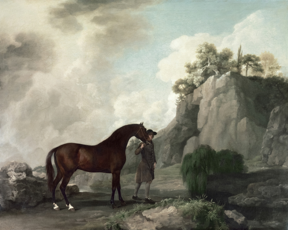 Cato and Groom (oil on canvas) wallpaper mural