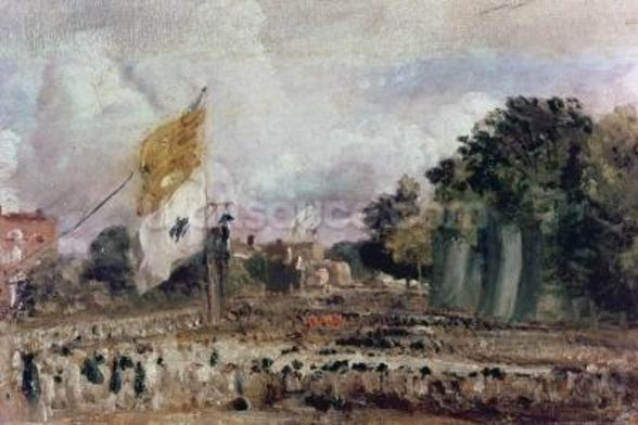 Celebration of the General Peace of 1814 in East Bergholt, 1814 (oil on canvas) wall mural