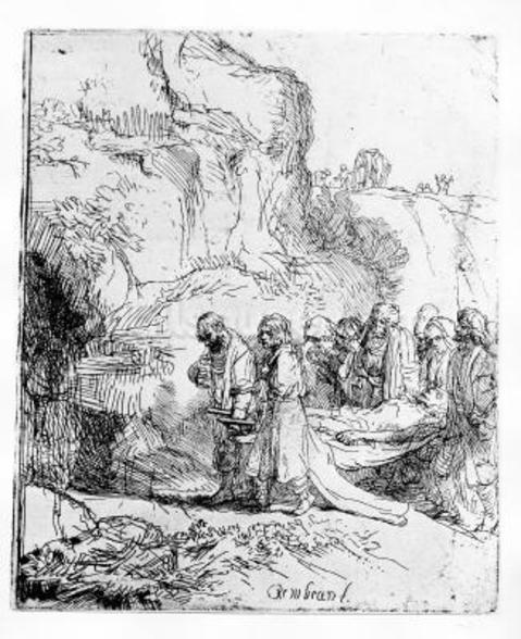 Christ carried to the tomb, c.1645 (etching) wall mural