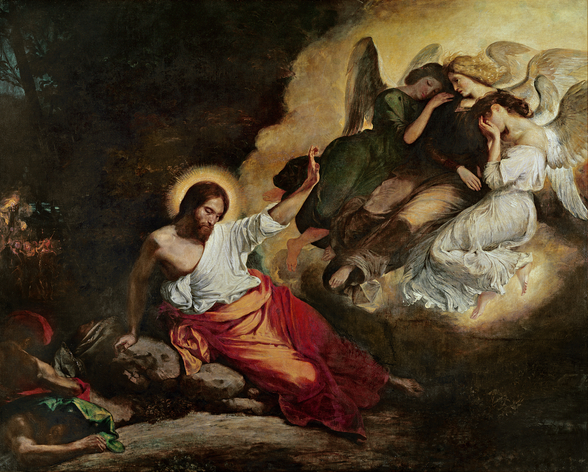 Christ in the Garden of Olives, 1827 (oil on canvas) wall mural