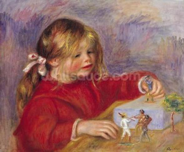 Claude Renoir (b.1901) at Play, 1905 (oil on canvas) wallpaper mural