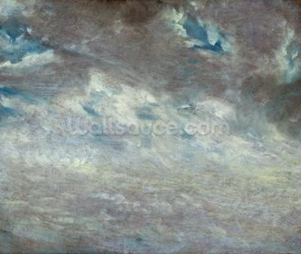 Cloud Study, 1821 (oil on paper on board) wall mural