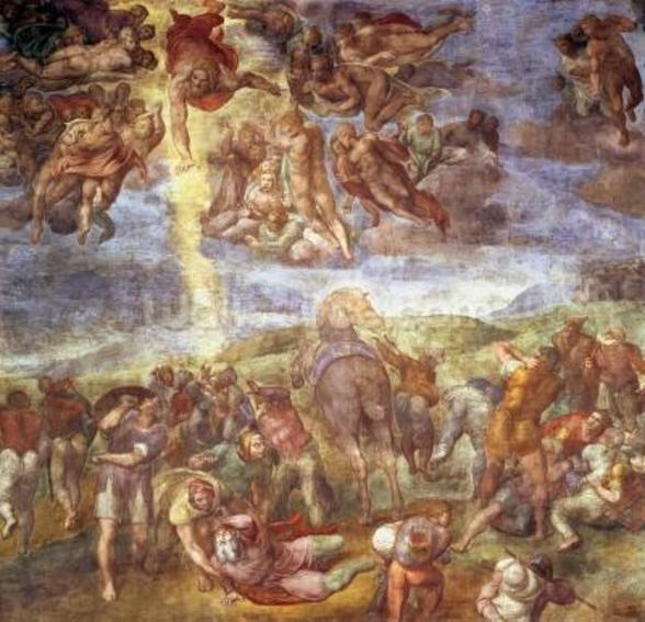 Conversion of St. Paul (fresco) wall mural