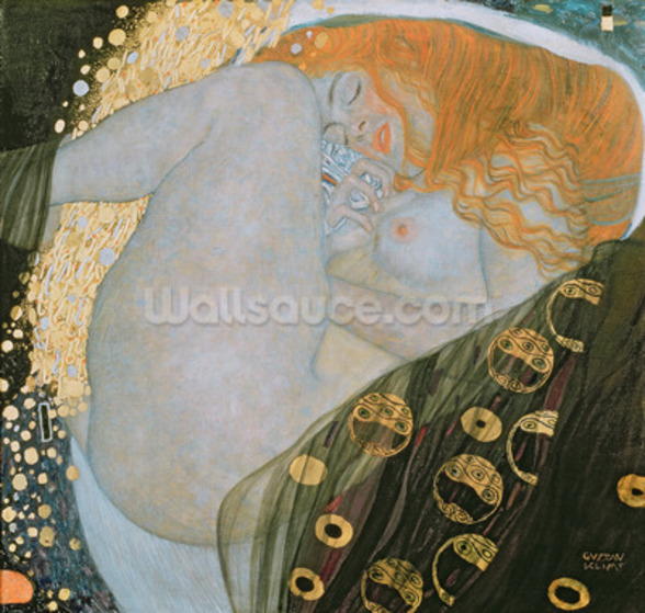 Danae, 1907-08 (oil on canvas) wall mural