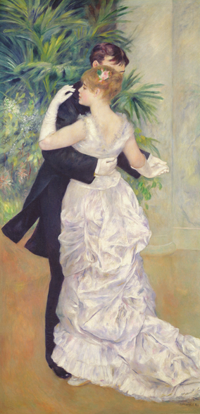 Dance in the City, 1883 (oil on canvas) wall mural