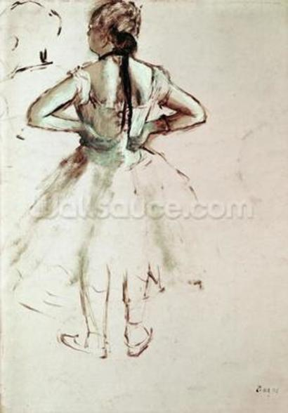 Dancer viewed from the back wall mural