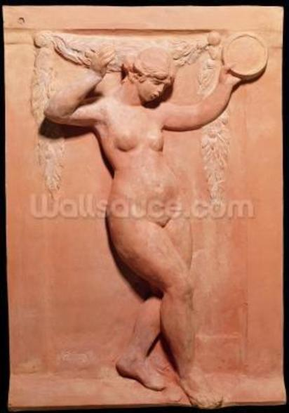 Dancer with a tambourine, 1918 (terracotta) wall mural