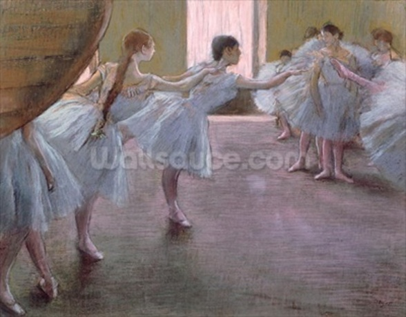 Dancers at Rehearsal, , 1875-1877 (pastel on cardboard) wall mural