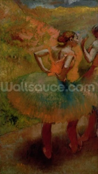 Dancers Wearing Green Skirts, c.1895 (oil on canvas) wall mural