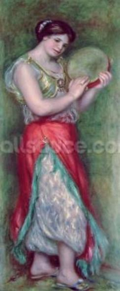 Dancing Girl with Tambourine, 1909 wall mural