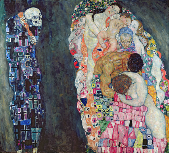 Death and Life, c.1911 (oil on canvas) mural wallpaper