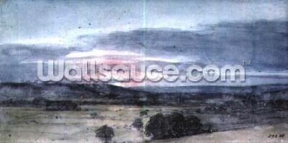 Dedham Vale from East Bergholt: Sunset wall mural
