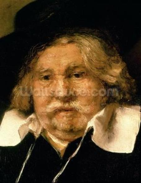 Detail of a Portrait of an old man, 1667 (oil on canvas) (see 42501) mural wallpaper