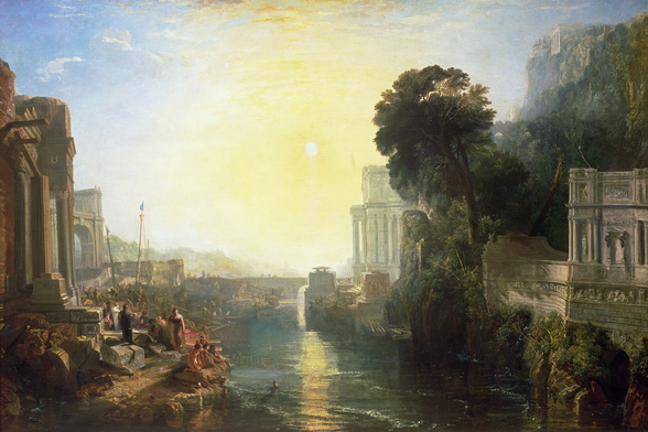 Dido building Carthage, or The Rise of the Carthaginian Empire, 1815 (oil on canvas) wall mural