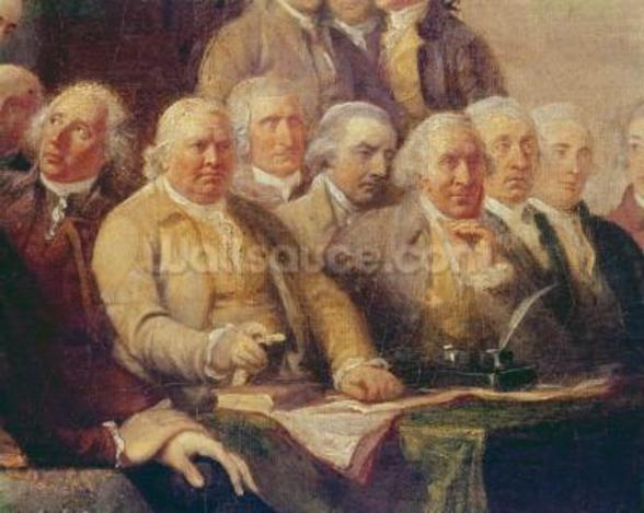 Drafting the Declaration of Independence, 28th June 1776, c.1817 (oil on canvas) (detail of 228826) wall mural