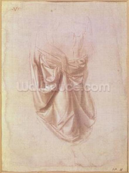 Drapery study (gouache on canvas) mural wallpaper