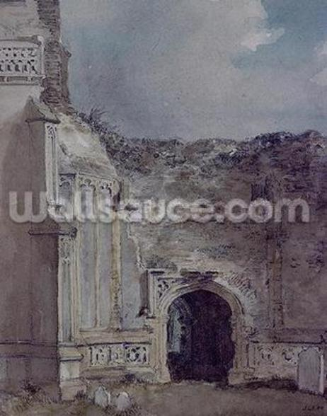 East Bergholt Church: North Archway of the Ruined Tower (w/c on paper) wall mural