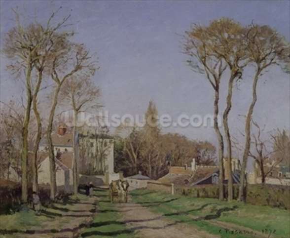 Entrance to the Village of Voisins, Yvelines, 1872 (oil on canvas) wall mural