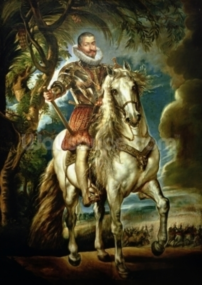 Equestrian portrait of the Duke of Lerma (1553-1625) 1603 (oil on canvas) wall mural