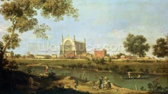 Eton College, c.1754 (oil on canvas) wallpaper mural