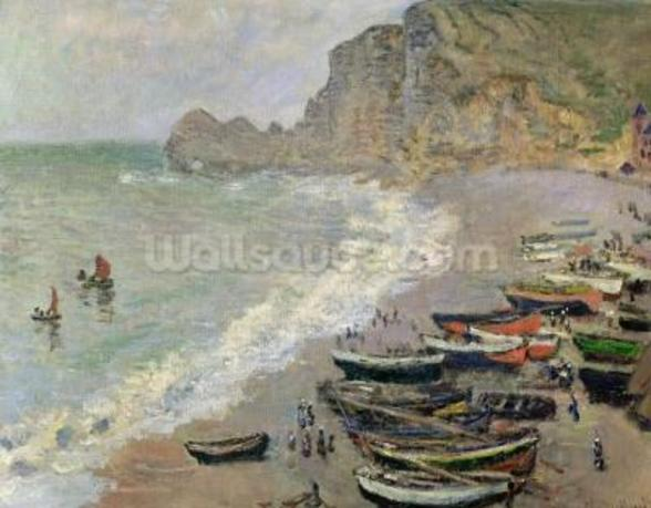 Etretat, beach and the Porte dAmont, 1883 (oil on canvas) wall mural
