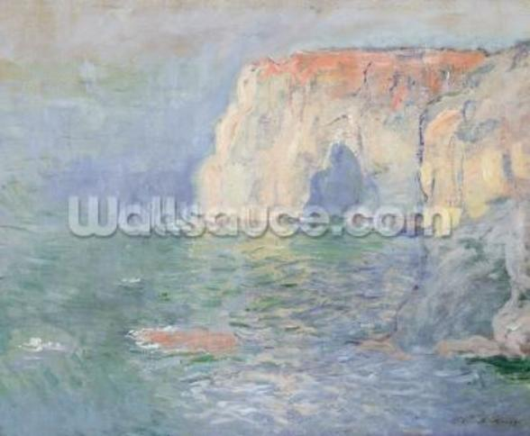 Etretat: Le Manneport, reflections on the water, 1885 (oil on canvas) mural wallpaper
