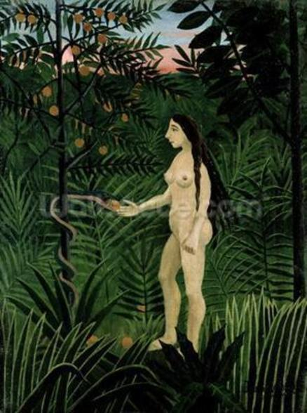 Eve, c.1906-07 (oil on canvas) wall mural