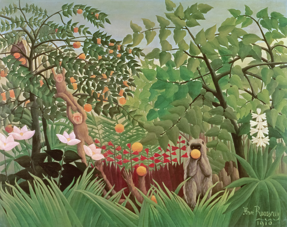 Exotic Landscape, 1910 mural wallpaper