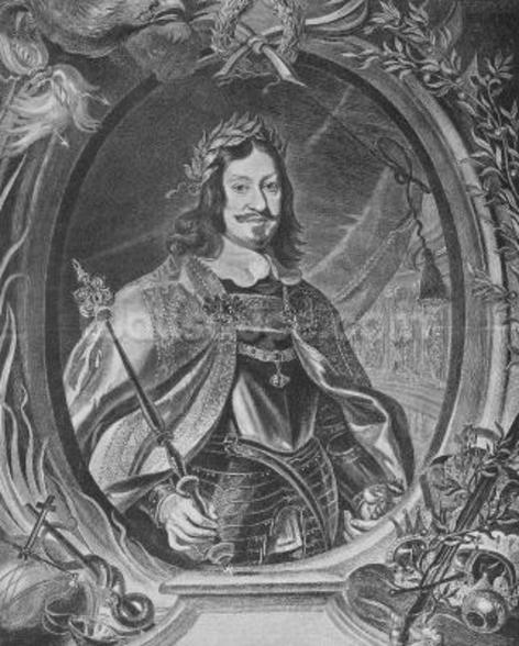 Ferdinand III, Holy Roman Emperor, engraved by Christoffel Jegher, c.1631-33 (engraving) mural wallpaper