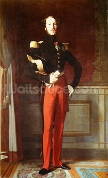 Ferdinand-Philippe (1810-42) Duke of Orleans at the Palais des Tuileries, 1844 (oil on canvas) wall mural