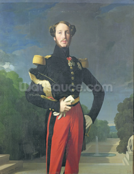 Ferdinand-Philippe (1810-42) Duke of Orleans in the Park at Saint-Cloud, 1843 (oil on canvas) wall mural