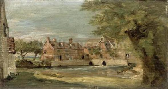Flatford Mill (oil on panel) mural wallpaper