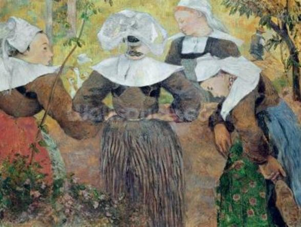 Four Breton Women, 1886 (oil on canvas) wall mural