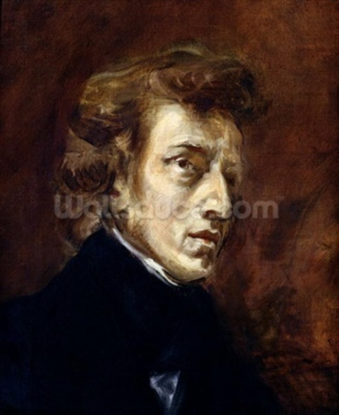 Frederic Chopin (1810-49) 1838 (oil on canvas) wall mural
