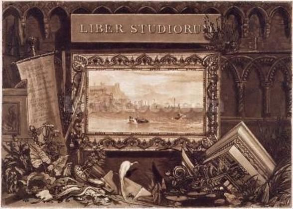 Frontispiece to Liber Studiorum, engraved by J. C. Easling (fl.1788-1815) 1812 (etching and mezzotint) wall mural