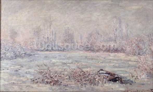 Frost near Vetheuil, 1880 (oil on canvas) mural wallpaper